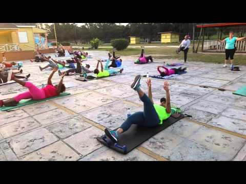 Outdoor Fitness Bahamas Arawak Cay Feb 20, 2016