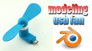 USB fan modeling in blender 2.9 or blender 2.8 for beginners