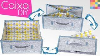 DIY – Caixa Organizadora 13 desmontável de tecido para closet