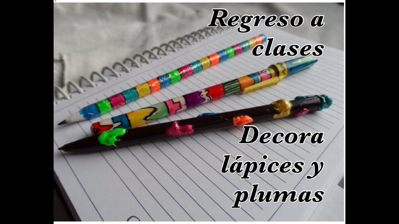 Regreso a clases decora lapices y plumas youtube - Plumas para decorar ...