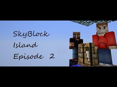 MineCraft SkyBlock Island Ep2 w/ Hunter Baker (Tree Farming)