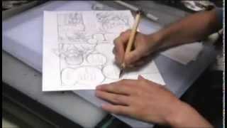 Takeshi Obata inking Bakuman full page