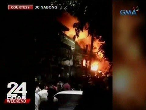 24 Oras: Nasa 10 bahay, kotse at motorsiklo, nasunog sa Sta. Ana, Maynila