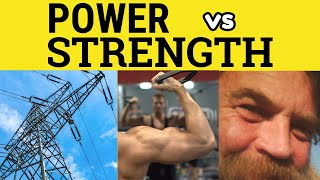 Power Versus Strength - The Difference - ESL British English Pronunciation