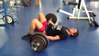 Weighted Barbell Hip Thrusts (From Floor)