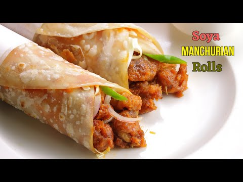 సోయా మంచూరియన్ రోల్స్ Perfect manchurian rolls recipe with tips  Manchurian Frankie by vismai food
