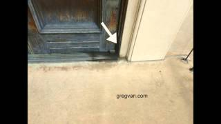 Oil From Door Hinges Can Damage Other Building Components - Maintenance