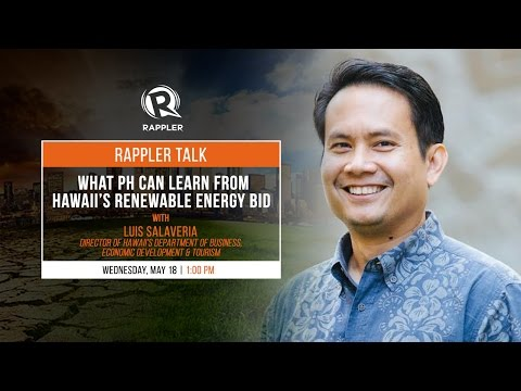Rappler Talk: What PH can learn from Hawaii's renewable energy bid