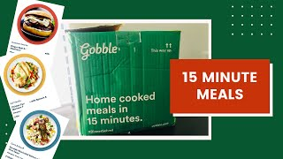 Gobble Meal Delivery Service Unboxing Review And Cook With Me