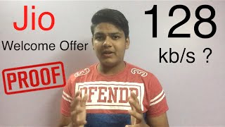JIO Speed 128 kbps ? After Exceeding 4gb data PROOF!