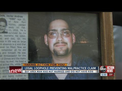 Grieving mother unable to file malpractice suit