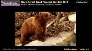 Stock Market Trend Forecast Sept to Dec 2015