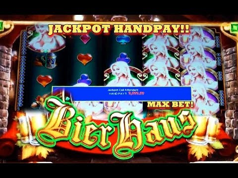HANDPAY!! Bier Haus - (MAX BET) - Slot Machine Bonus - (WMS) COUNTRY GIRL SPEAKS!!!