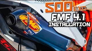 FMF Factory 4.1 RCT Installation!! | Supermoto Upgrades 500 EXC