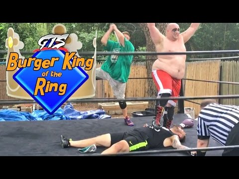 FAT BOXER WRESTLES YOUTUBER in OFFICIAL GTS BURGER KING OF THE RING CHAMPIONSHIP MATCH!