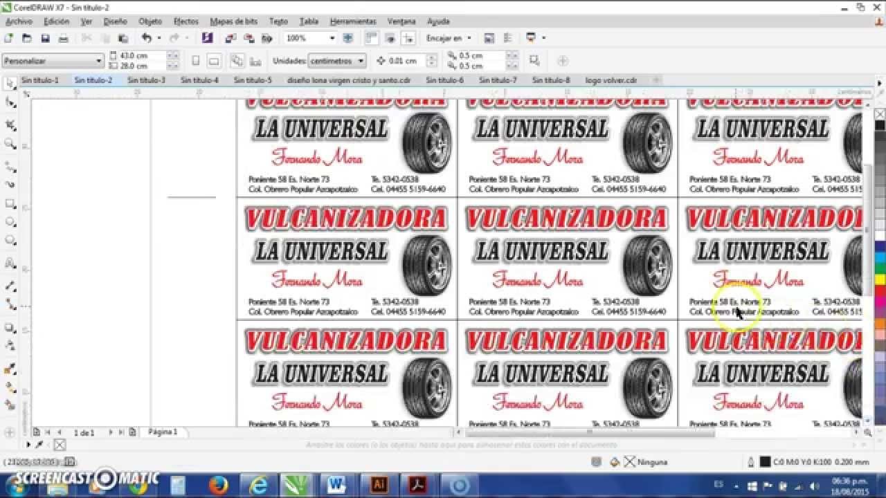 Download COMO HACER PLANILLAS DE TARJETAS EN COREL