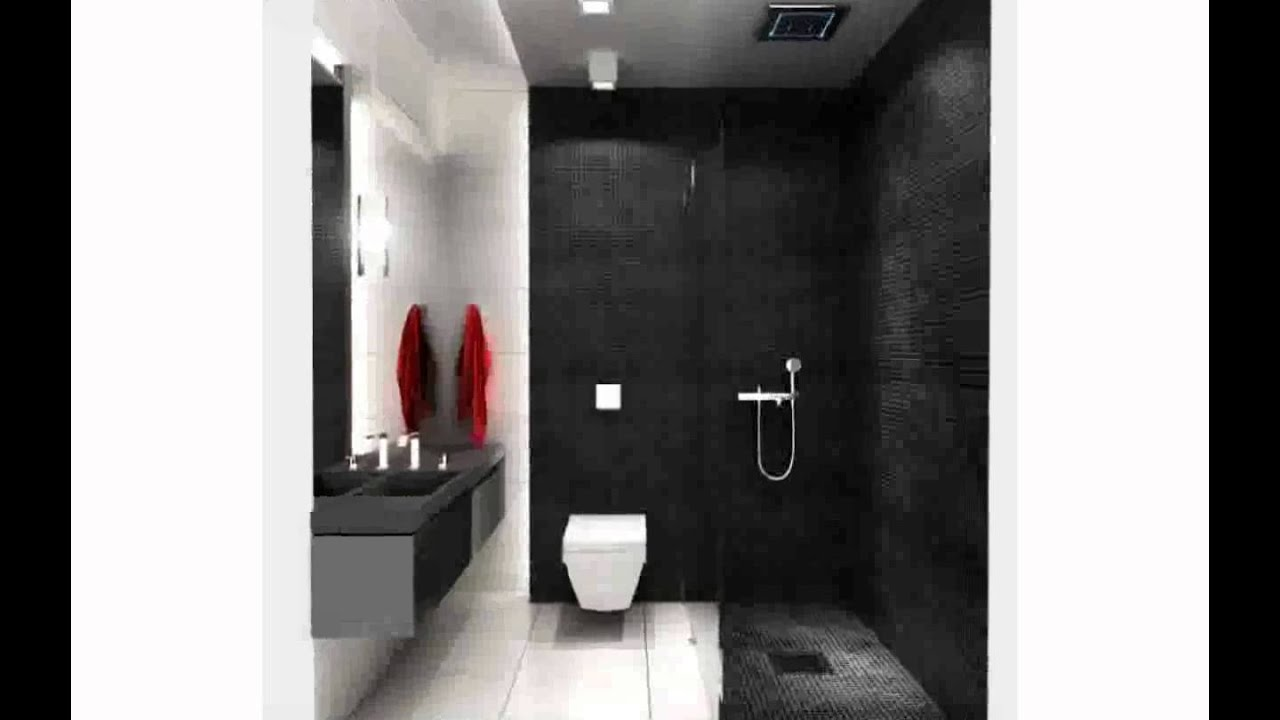 Bathroom Tiles Black And White black and white bathroom tile ideas - youtube