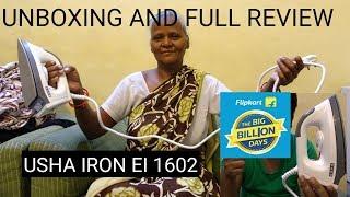 USHA IRON EI 1602 Full Review and Unboxing.