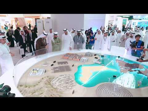 HH Sheikh Hamdan bin Zayed Al Nahyan visits Masdar's stand at ADSW 2019