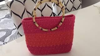 Penye İpten çanta yapımı ( Ribbon ip-model-1) -1