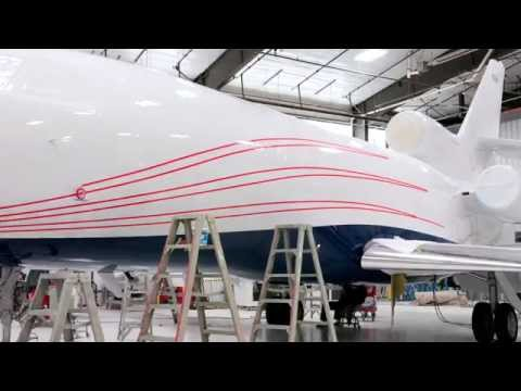 Falcon 900EX Paint Job in Under 3 Minutes