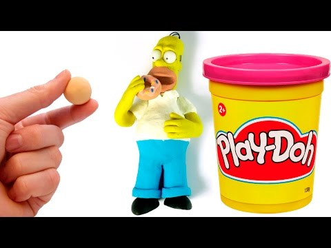 Homer Simpson Stop motion video Play doh Claymation