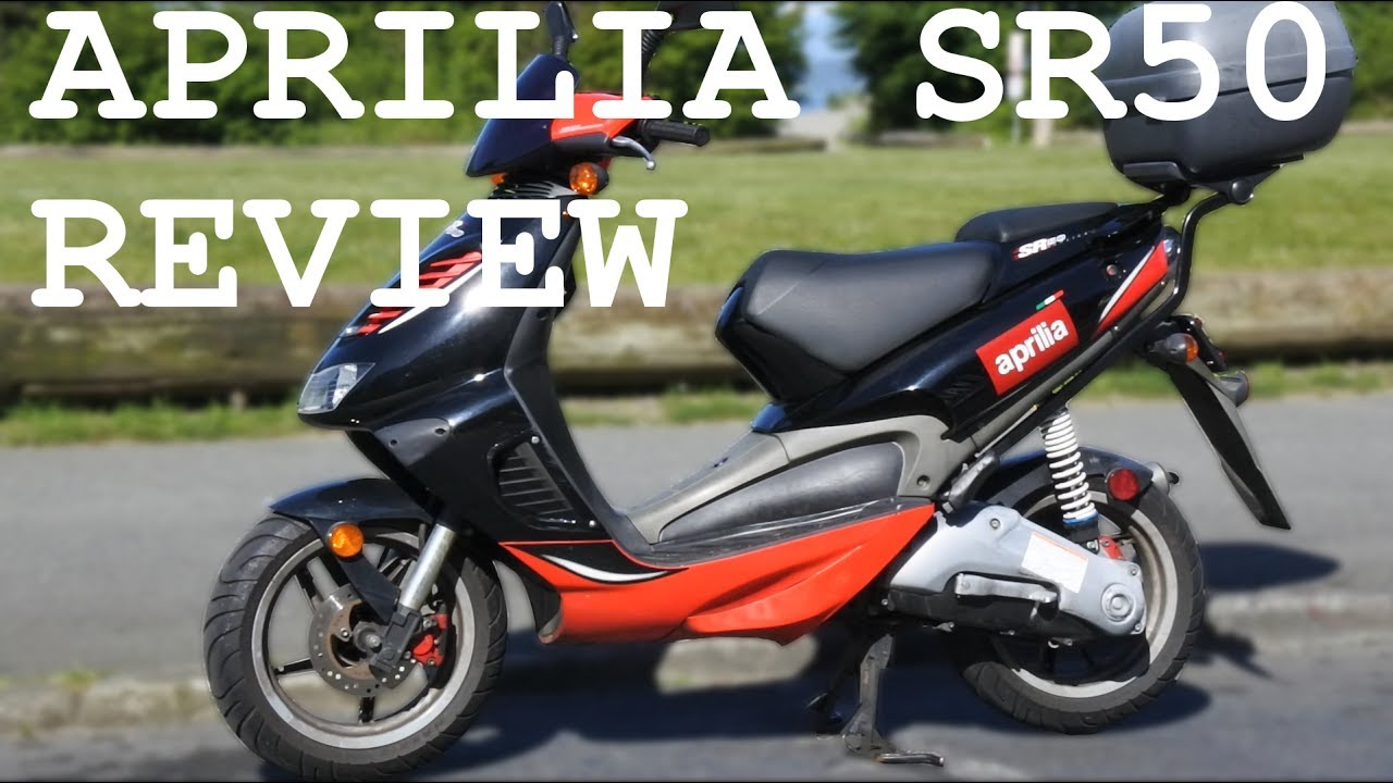 aprilia sr50 review best 50cc scooter youtube. Black Bedroom Furniture Sets. Home Design Ideas