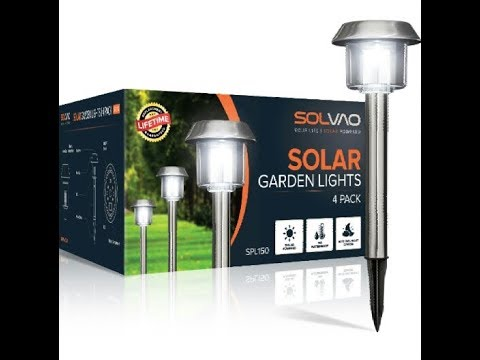 Solvao Solar Garden Lights 4pk- stainless steel waterproof & rustproof