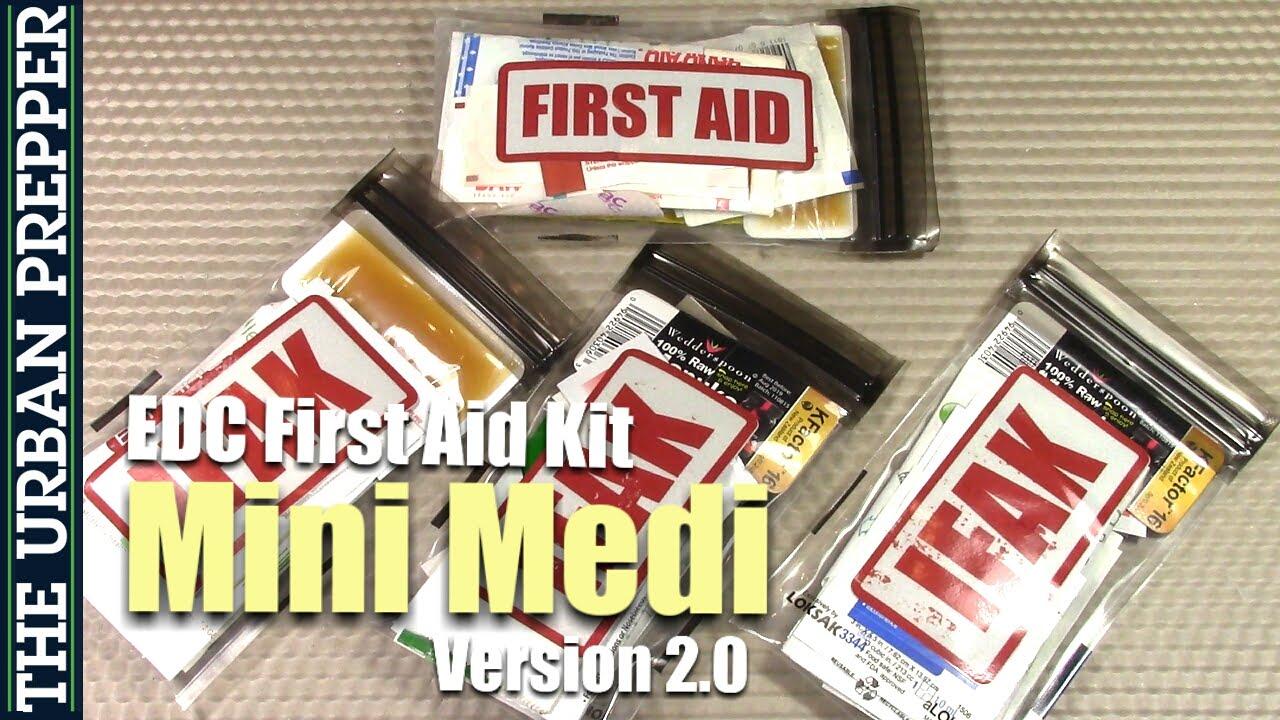 Kit Medi ifak - First Youtube Edc 0 Aid V2 Mini