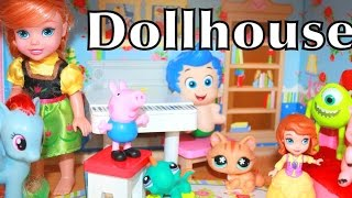 Kidkraft Dollhouse Play-Doh Peppa Pig Frozen Disney Princess ANGRY BIRDS LPS Barbie Toys Compilation