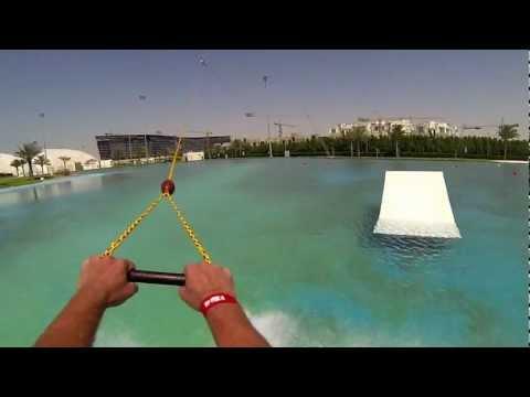 wakeboarding Al Forsan cable park Abu Dhabi