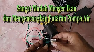 Cara Sambung Pompa Air Semprot ke Potensio