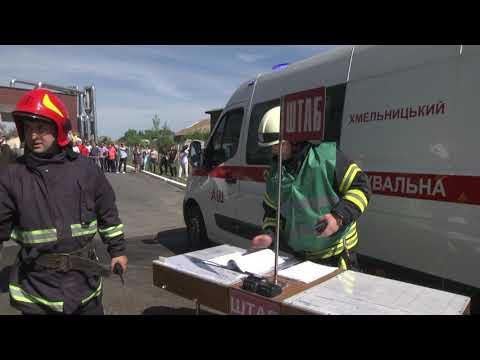 MNSKHM: На Хмельниччині відбулись масштабні пожежно-тактичні навчання на території елеватора