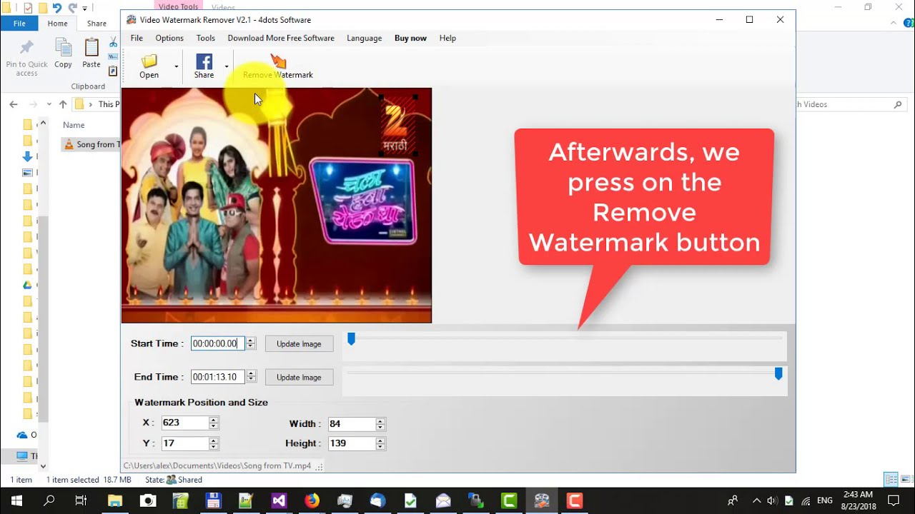 Video Watermark Remover - Remove watermark from video