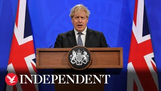 Live: Boris Johnson holds briefing on easing lockdown restrictions