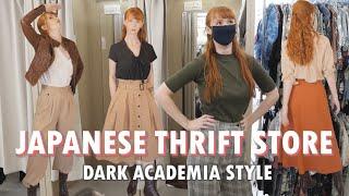 Japanese thrift store | making Dark Academia looks!