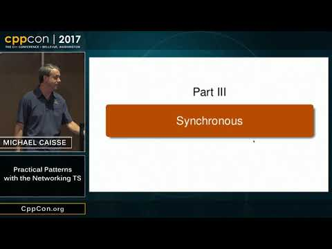 """CppCon 2017: Michael Caisse """"Practical Patterns with the Networking TS"""""""