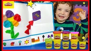 Makar plays with Play Doh