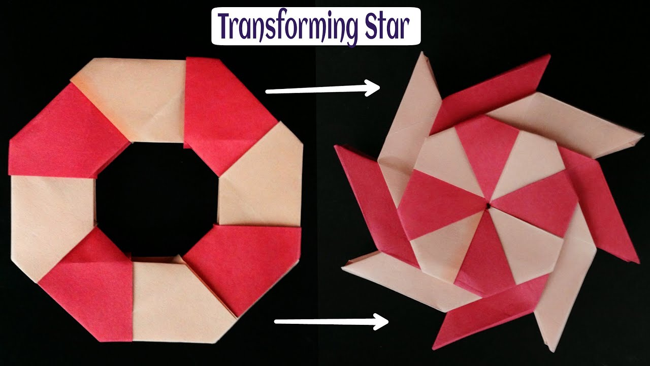Transforming Ninja Star Blade Shuriken - Modular Origami ... - photo#5