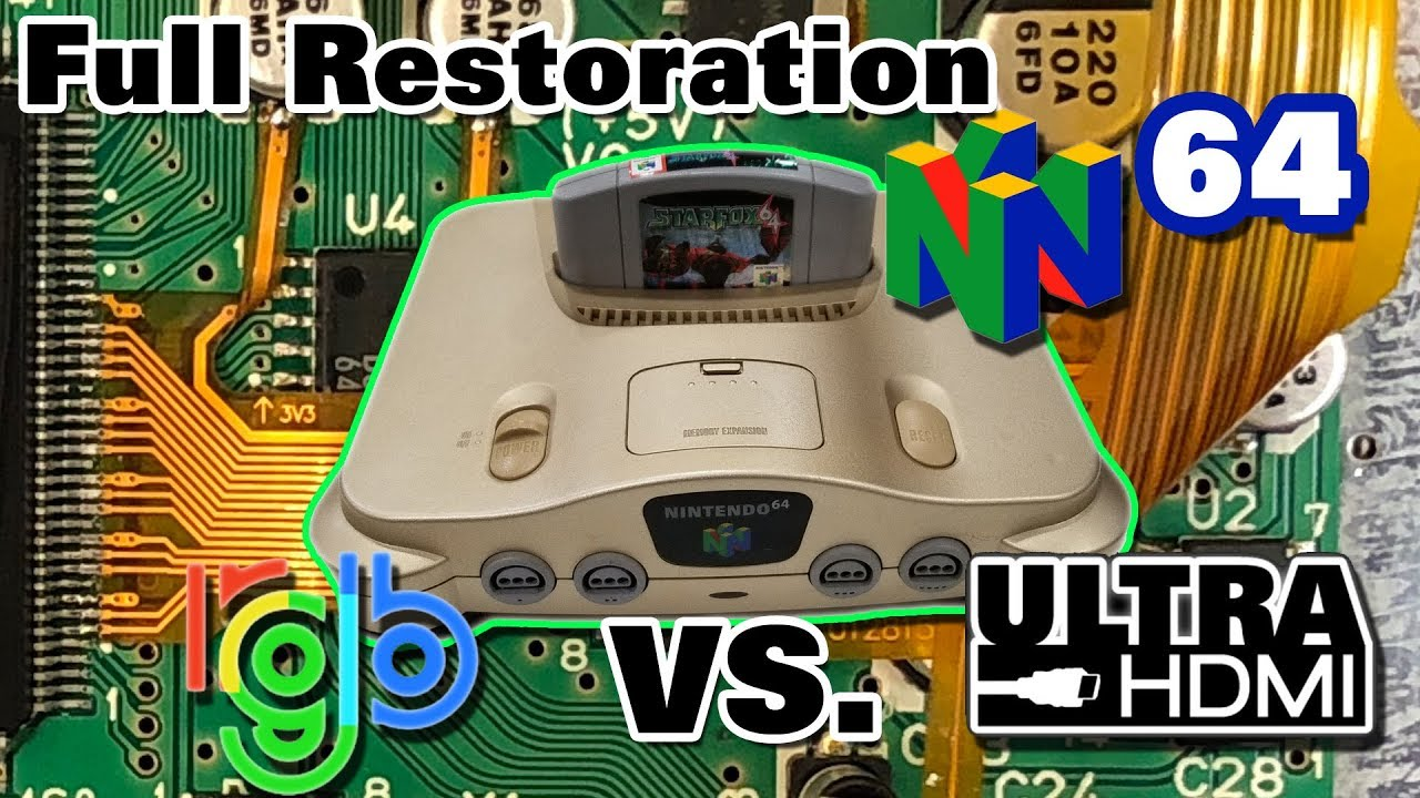 Nintendo 64 Modding and Restoration - RGB and UltraHDMI mods with video  quality comparison