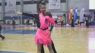 Латина Самба танец  Юниоры-1 открытый класс ФИНАЛ - бальные танцы латина Пермь Дуэт