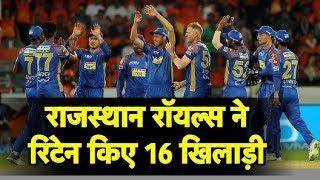 Rajasthan Royals Retain 16 Players | Sports Tak