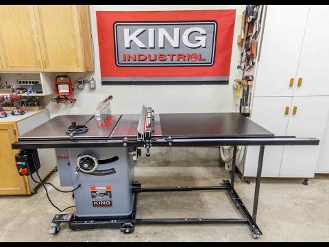 """King Industrial 10"""" Cabinet Table Saw And Accessories"""