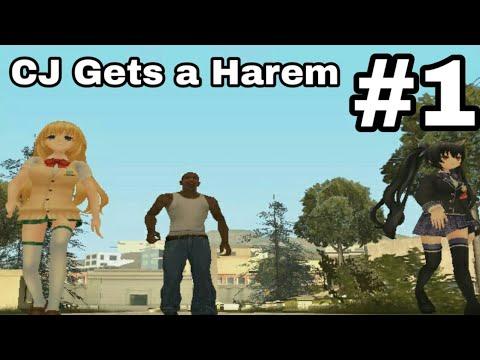 CJ Gets a Harem! - Grand Theft Auto San Andreas Anime Edition #1