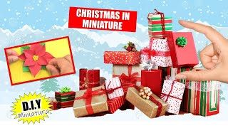 5 CHRISTMAS CRAFTS IN MINIATURE ! / How to make ornaments for Christmas tree