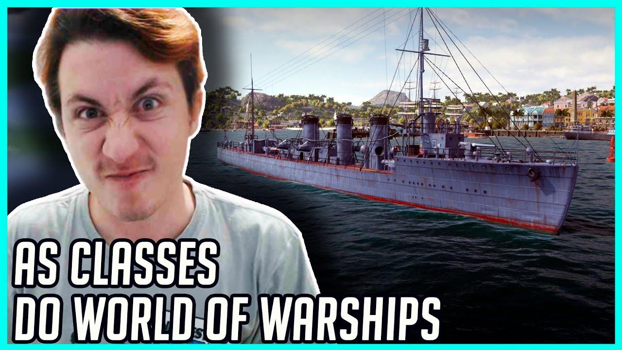 MOSTRANDO AS CLASSES DIFERENTES NO WORLD OF WARSHIPS
