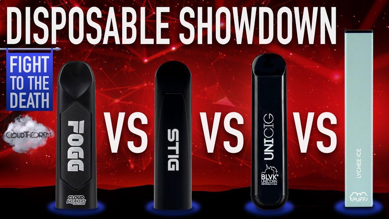 FOGG vs STIG vs UNICIG vs PUFF BAR Disposable ⥈ Showdown ⥈