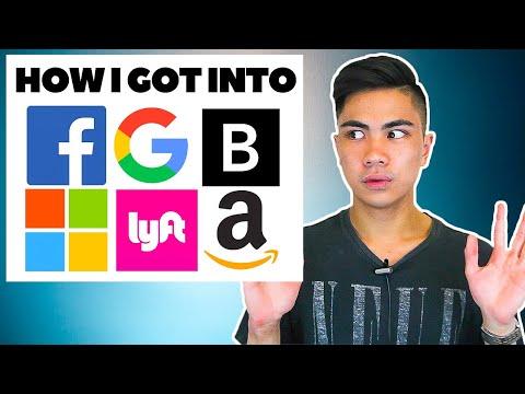 How I got internships at Google, Facebook, Microsoft, Amazon (Software Engineering)