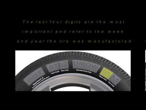 Tire Safety Group  How to Decode a Tire DOT Code  YouTube