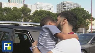 En exclusiva: El emotivo reencuentro de Anuel AA con su hijo al salir de la cárcel en Miami